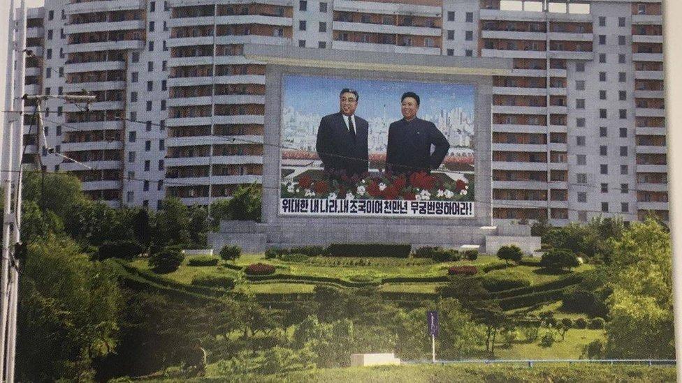 Pjongjang, bilbord, 2019.