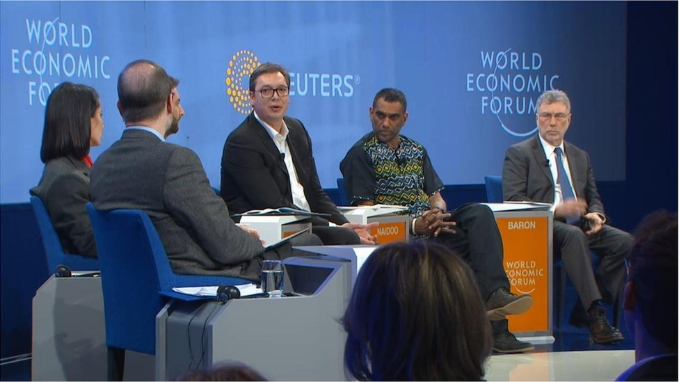 Panel o krizi slobode medija na Svetskom ekonomskom forumu u Davosu, Švajcarska 2019.