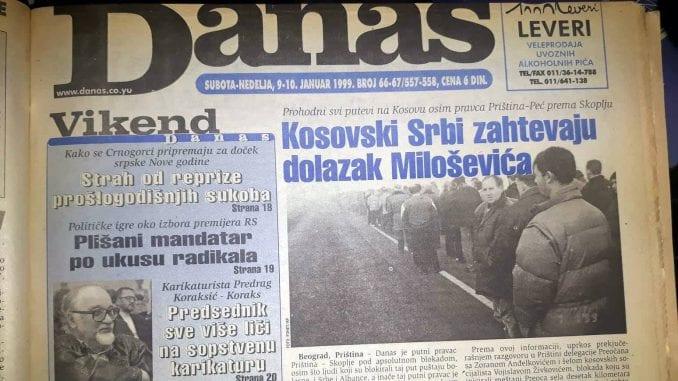 Klinton (1999): Nemiri na Kosovu pretnja nacionalnoj sigurnosti SAD 1