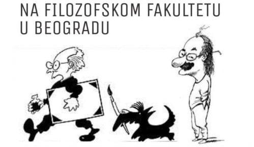 Izložba karikatura Koraksa i Petričića na Filozofskom fakultetu 31. januara 3
