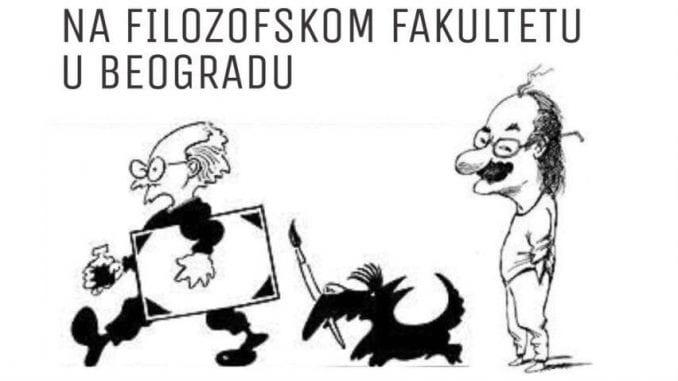 Izložba karikatura Koraksa i Petričića na Filozofskom fakultetu 31. januara 1