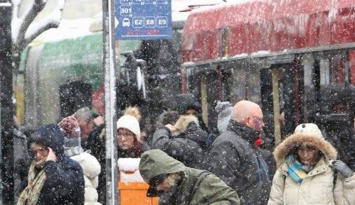 Lančani sudar na Ibarskoj, zbog snega kolaps u saobraćaju u Beogradu 10