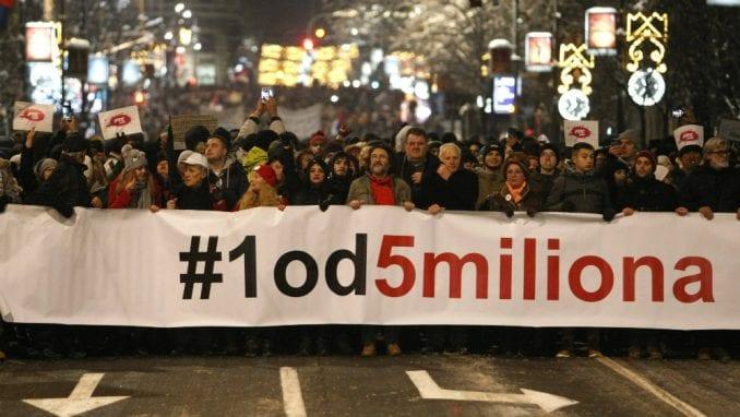 """Protest """"Jedan od pet miliona"""" održan prvi put u Prijepolju 1"""