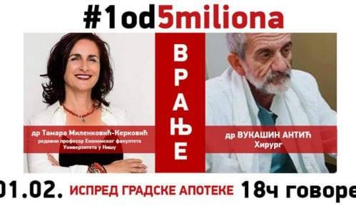 """Drugi protest """"1 od 5 miliona"""" u petak u Vranju 5"""