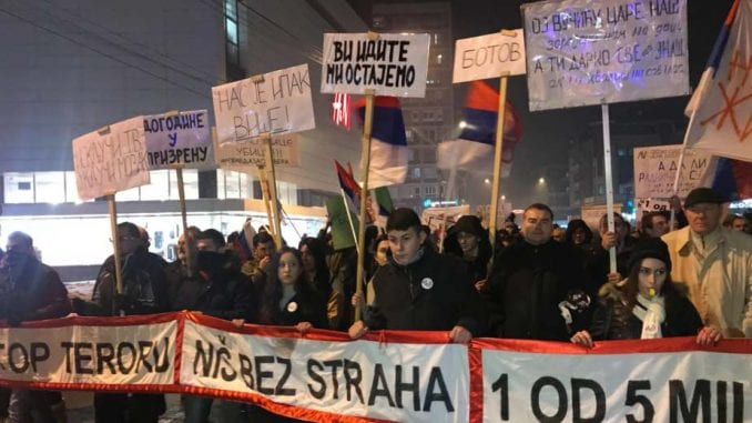 Protesti u više gradova Srbije (VIDEO)(FOTO) 1