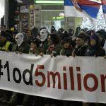 """Protest """"1 od 5 miliona"""": Bujoševiću, nije srpski ćutati (VIDEO) (FOTO) 5"""