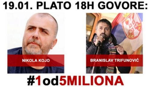 """Nikola Kojo govornik na osmom protestu """"1 od 5 miliona"""" 2"""