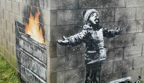 Prodat Benksijev mural u Velsu za više od 100.000 funti 4