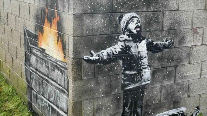Prodat Benksijev mural u Velsu za više od 100.000 funti 1