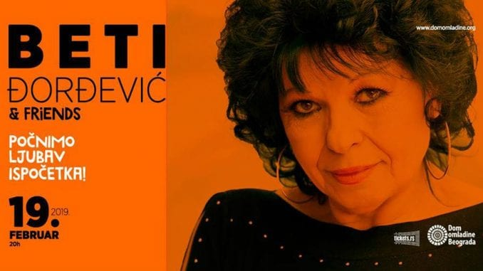 Beti Đorđević & Friends 19. februara u Domu omladine Beograda 4