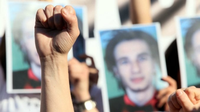 Protest grupe Pravda za Davida pred tužilaštvom u Banjaluci 2