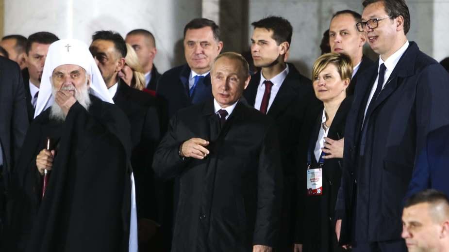 Putin i Vučić obišli Hram Svetog Save 2