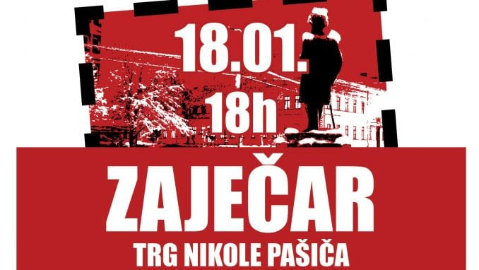 """Protest """"1 od 5 miliona"""" 18. januara u Zaječaru 1"""