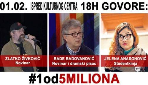 "Protest ""1 od 5 miliona"" sutra po prvi put u Pančevu 13"