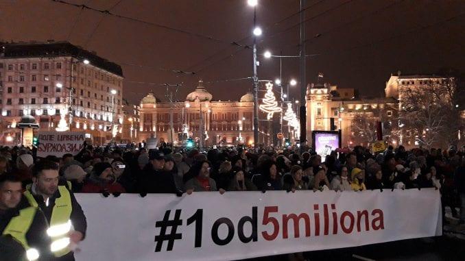 """Organizatori protesta """"Jedan od pet miliona"""" traže sastanak sa direktorom RTS 1"""
