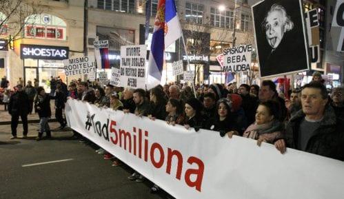 """Protest """"1 od 5 miliona"""" u Somboru četvrtkom - za distancu od desničarske note 8"""
