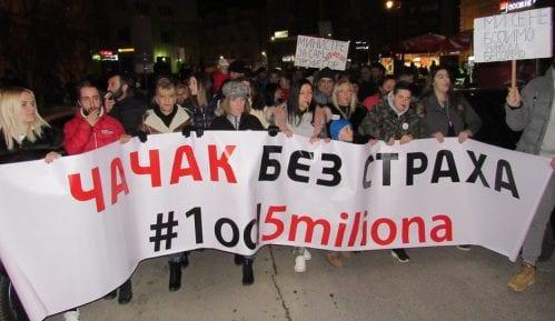 Nova Srbija: Broj učesnika protesta u Čačku se smanjio zbog promenjene maršrute 12