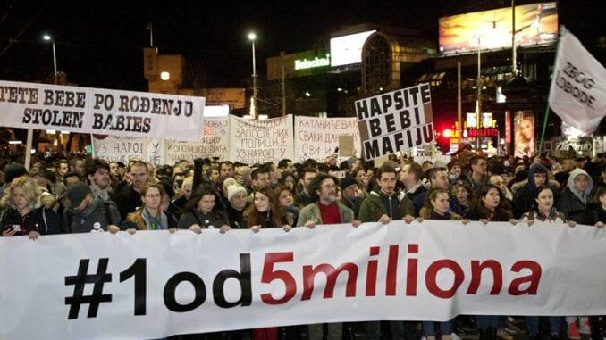 Novi protest Jedan od pet miliona sutra u Beogradu 1