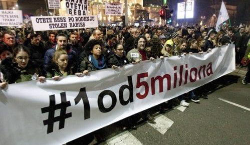 """Studentski protest """"1 od 5 miliona"""": Dosadan partijski performans u RTV-u 1"""