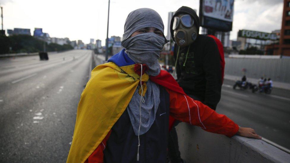 Demonstranti u karakasu