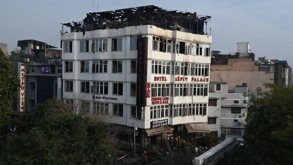 Hotel Arpit palas posle požara