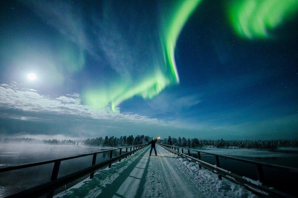 Polarna svetlost u Finskoj 14. februara