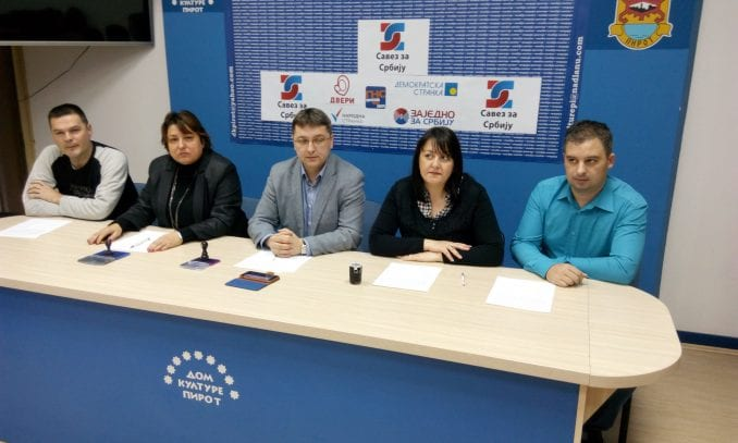 Pirot: Četiri stranke i grupa građana u Savezu za Srbiju 1
