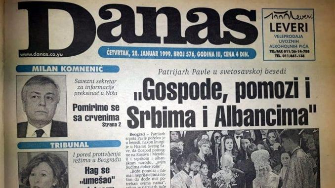 """Danas (1999): Hag se """"umešao"""" u istragu masakra u selu Račak 1"""