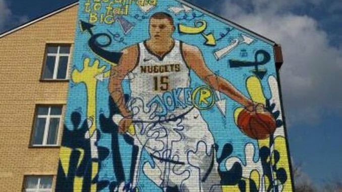 Košarkaš Nikola Jokić dobio mural u Somboru 1