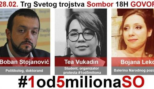 "Somborski protest ""1 od 5 miliona"" ipak 28. februara 9"