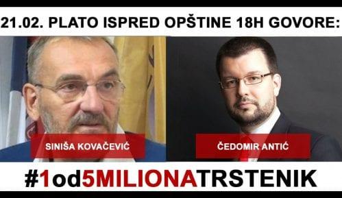 Trstenik: Na protestu 21. februara govornici Siniša Kovačević i Čedomir Antić 8