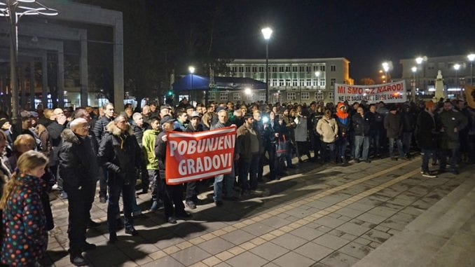 Obeležena godišnjica protesta u Požegi 1