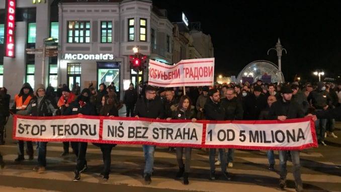 """Pokret mladih """"Za Niš bez straha"""" pozvao opoziciju da se uključi u protest """"1 od 5 miliona"""" 4"""