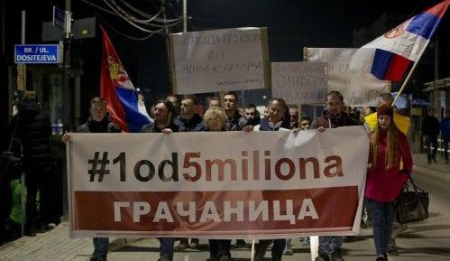 """Protest """"1 od 5 miliona"""" u Gračanici: Ibar nije granica 7"""