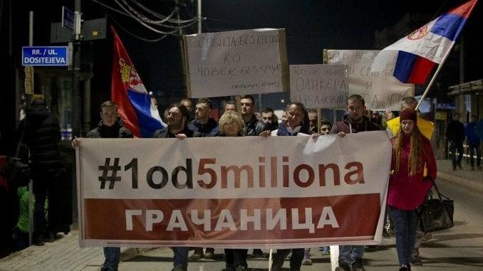 """Protest """"1 od 5 miliona"""" u Gračanici: Ibar nije granica 1"""
