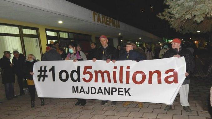 """Protest """"1 od 5 miliona"""" u Majdanpeku posle godinu dana pauze 1"""
