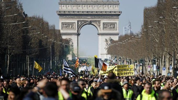 U nedelju godinu dana od početka protesta Žutih prsluka u Francuskoj 1