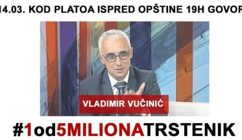 "U Trsteniku deveti protest ""1 od 5 miliona"" 14. marta 5"