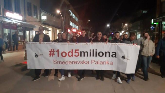 """Protesti """"1 od 5 miliona"""" u gradovima širom Srbije (FOTO, VIDEO) 4"""