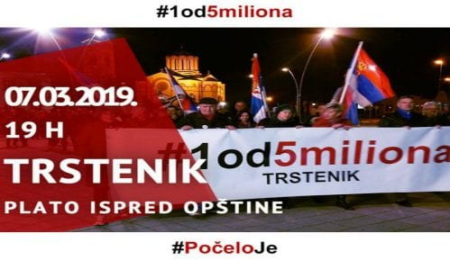 Osmi protest u Trsteniku 7. marta 12