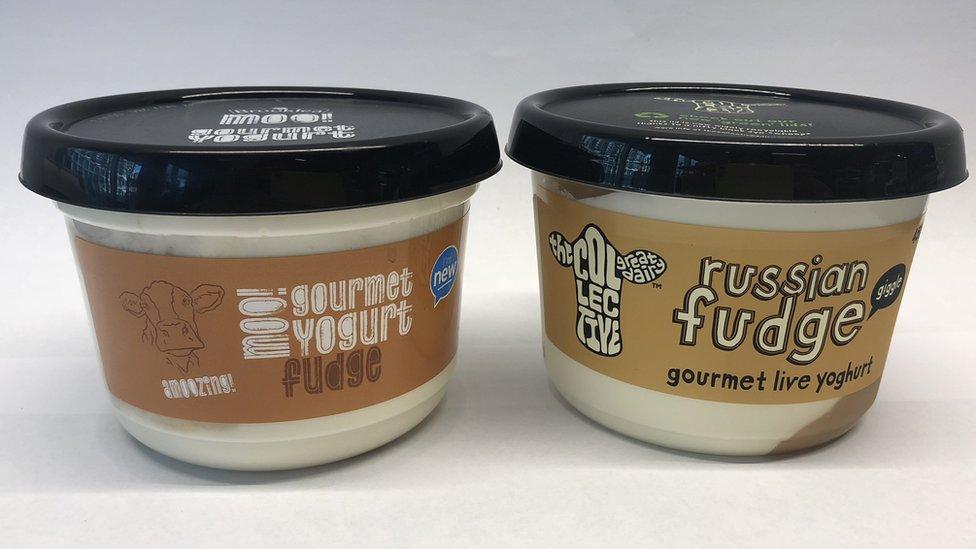 Aldijev jogurt pored Kolektivovog proizvoda