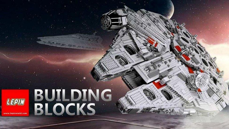 Lepinovi paketi kockica veoma su slične kopije postojećih Legovih setova