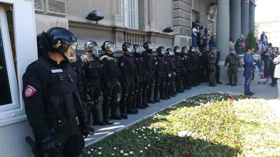 protest građana u Beogradu, 17. mart