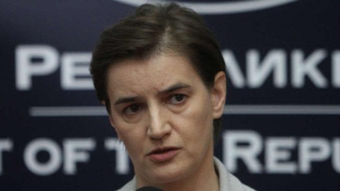 Brnabić: Još nije vreme za odgovor Srbije na kosovsku platformu 1