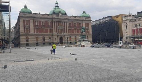 Performans Narodnog pozorišta 7. avgusta na Trgu republike 11