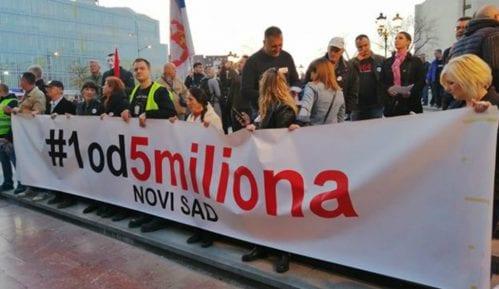 """Nastavak protesta """"1 od 5 miliona"""" u Novom Sadu 3. maja 3"""
