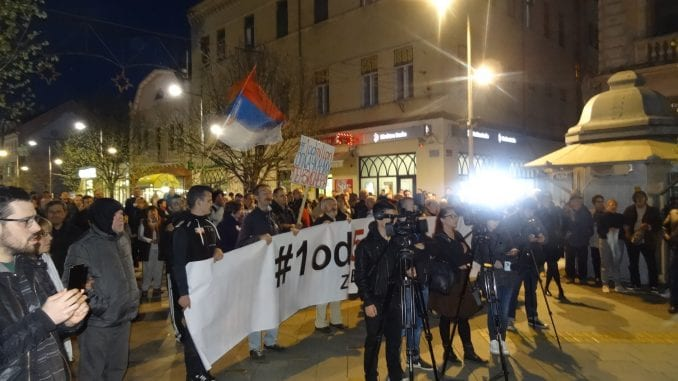 """Protesti """"1 od 5 miliona"""" održani u više gradova Srbije (FOTO) 1"""