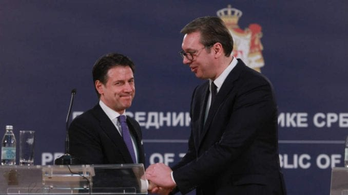 Vučić i Konte: Italija će biti ambasador Srbije na njenom putu ka EU 1