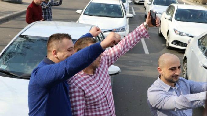Protest udruženja CarGo ispred vlade, traže smenu ministarke Mihajlović 1