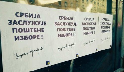 Aktivisti DS-a postavili plakate sa Đinđićevim rečima o poštenim izborima 4